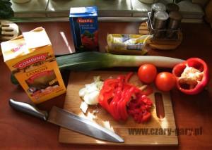 składniki do lazanii