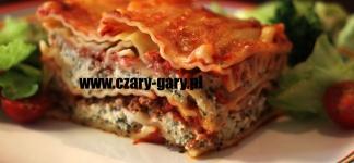 L jak Lasagne czyli Lazania z porą
