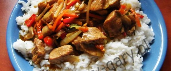Wieprzowina po chińsku dla leniwych