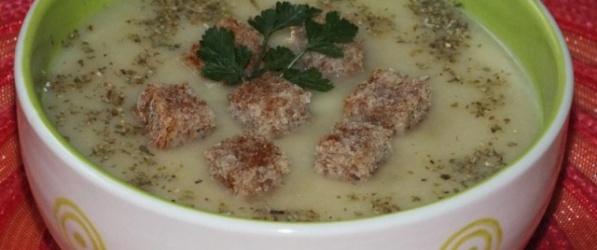 Kalafiorowa Zupa Krem Z Grzybami