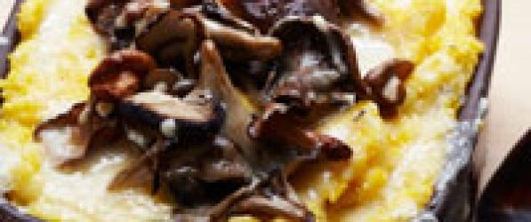 Polenta z grzybami