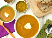 Zupa-krem marchwiowo-kalafiorowa na ostro